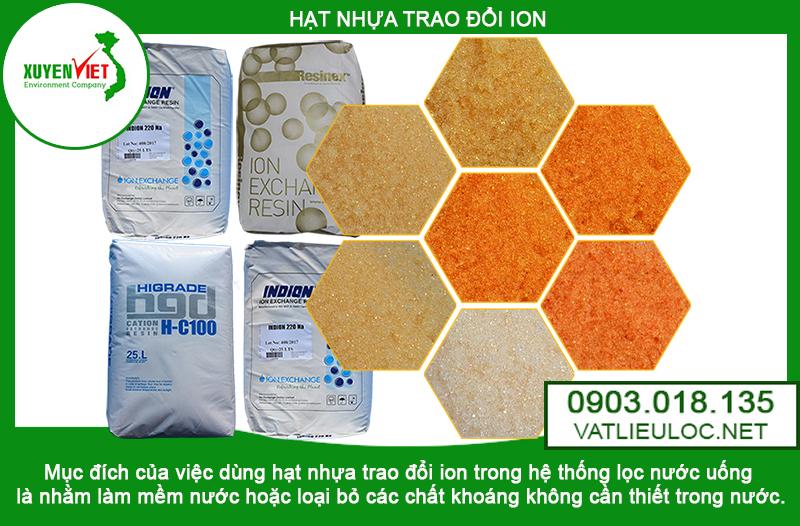 Hạt nhựa trao đổi ion ở TPHCM-Vật Liệu Lọc-Môi Trường Xuyên Việt