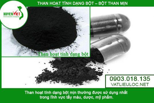 Than hoạt tính dạng bột lọc nước – Than bột Xuyên Việt 0903.018.135