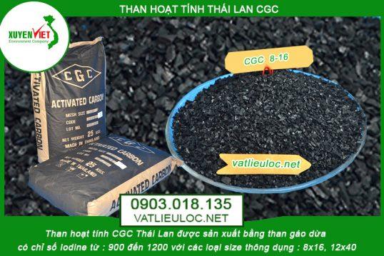 Than hoạt tính CGC Thái Lan – Công ty Môi Trường Xuyên Việt phân phối