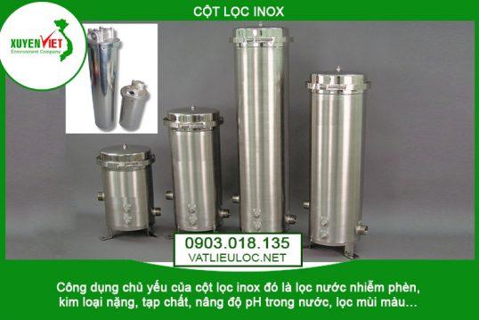 Cột lọc nước INOX – Công Ty Môi Trường Xuyên Việt 0903.018.135