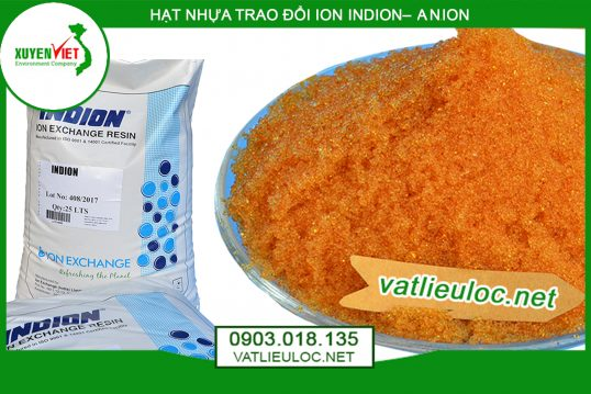 Hạt nhựa trao đổi ion Indion– Anion