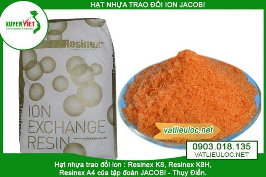 Hạt nhựa trao đổi ion Anion Jacobi Resinex A4 – Vật liệu lọc Xuyên Việt