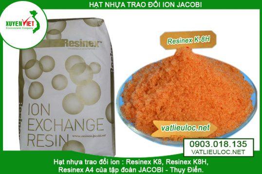 Hạt nhựa trao đổi ion Cation jacobi Resinex K8