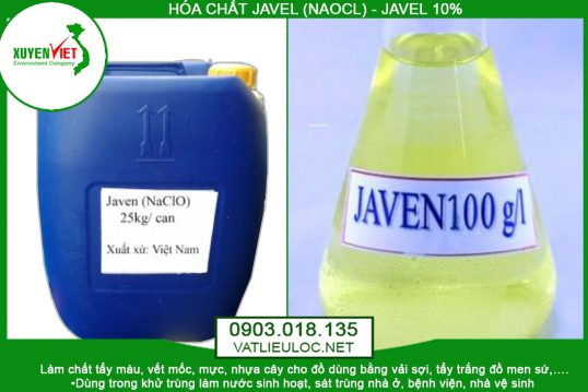 Hóa Chất Javen (NaOCl) Khử Trùng Tẩy Màu – Môi Trường Xuyên Việt