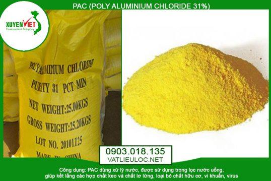 Hóa Chất PAC (Poly Aluminium Chloride 31%) Lọc Nước – Vật Liệu Lọc