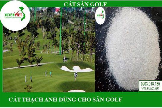 Cát sân golf- Cát dùng cho sân golf- Cát trắng thạch anh dùng cho sân golf