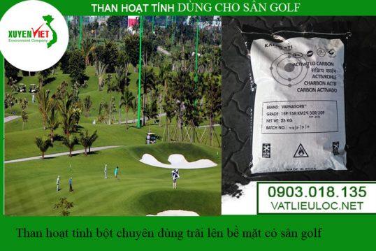 Than hoạt tính bột dùng cho sân golf trải lên cỏ – Than hoạt tính Xuyên Việt